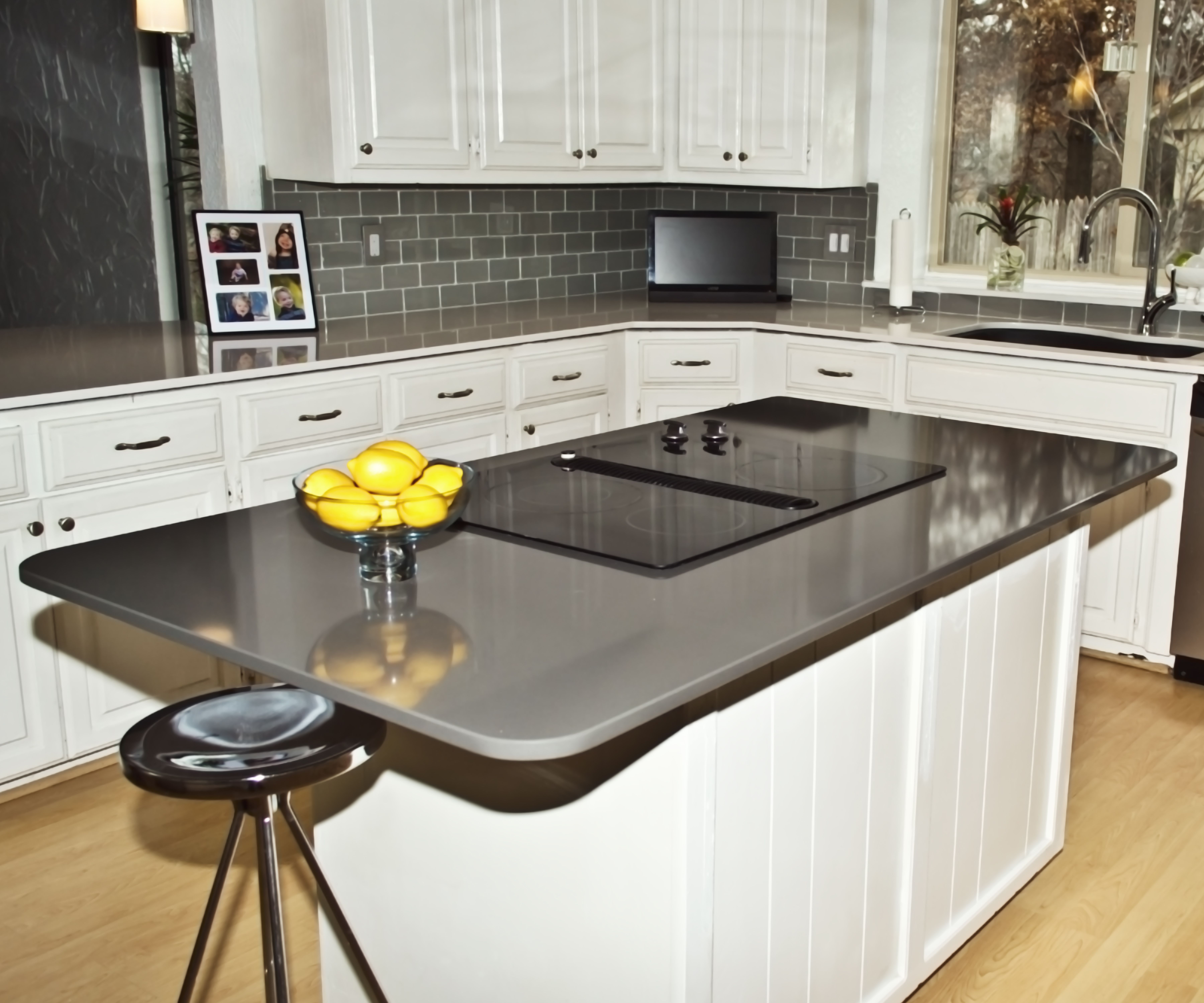 kitchen remodel okc white paint for cabinets island countertop silestone cemento install photos