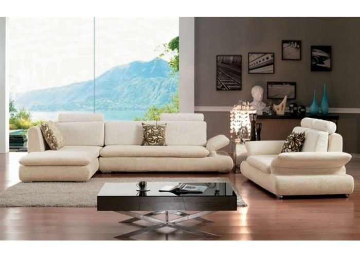 Room contemporary white microfiber sectional sofa also  contoured armrests
