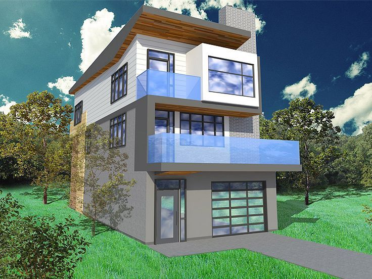 Three Story House Plans Narrow Lot Narrow Lot Duplex House Plans
