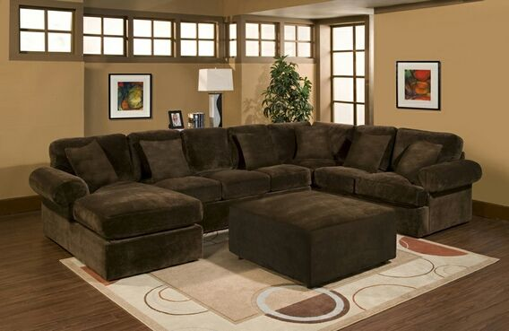 chenille sectional sofas with chaise best type mattress sofa bed 3 pc bradley chocolate plush velour ...