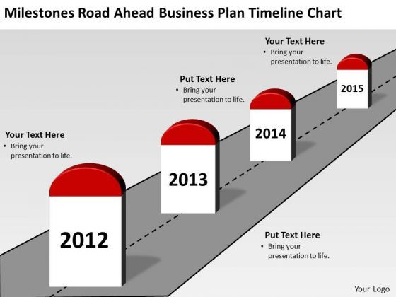 Milestones Road Ahead Business Plan Timeline Chart