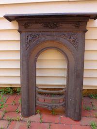 Victorian cast iron fireplace surround Antique Vintage