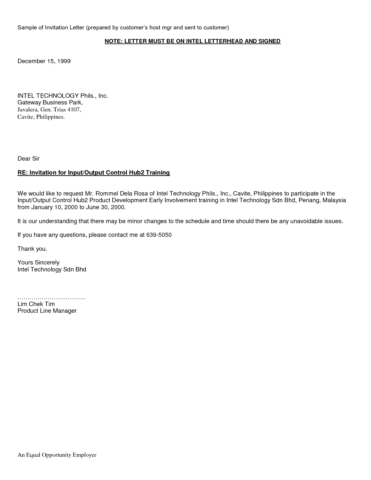 casual cover letter example