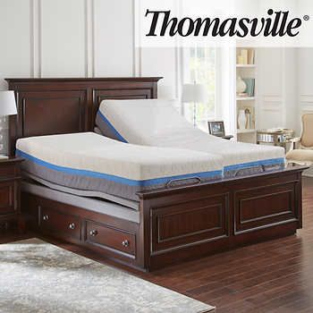 Thomasville Momentum Gel Choice 12 5 Split King Mattress And Adjule Base