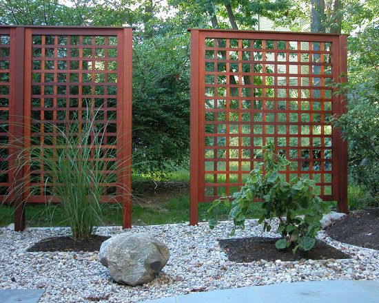 Wonderful Lattice Screen Designs Rock Garden Asian Landscape
