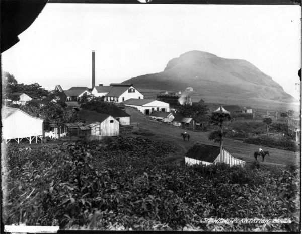 Historic Hana Maui sugar plantation Around 1885