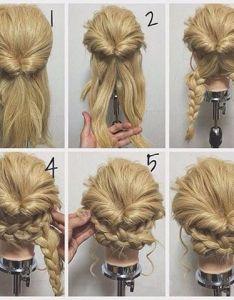 Resultado de imagen para updo diy for medium length hair also tag your friend makeup nails maquillaje unas anzoategui rh pinterest