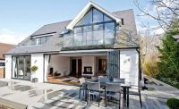 dormer bungalow with loft conversion and balconies ...
