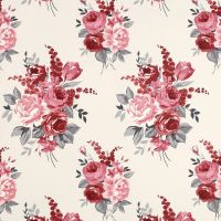 This is a Chiswick Cranberry Floral Wallpaper made by ...