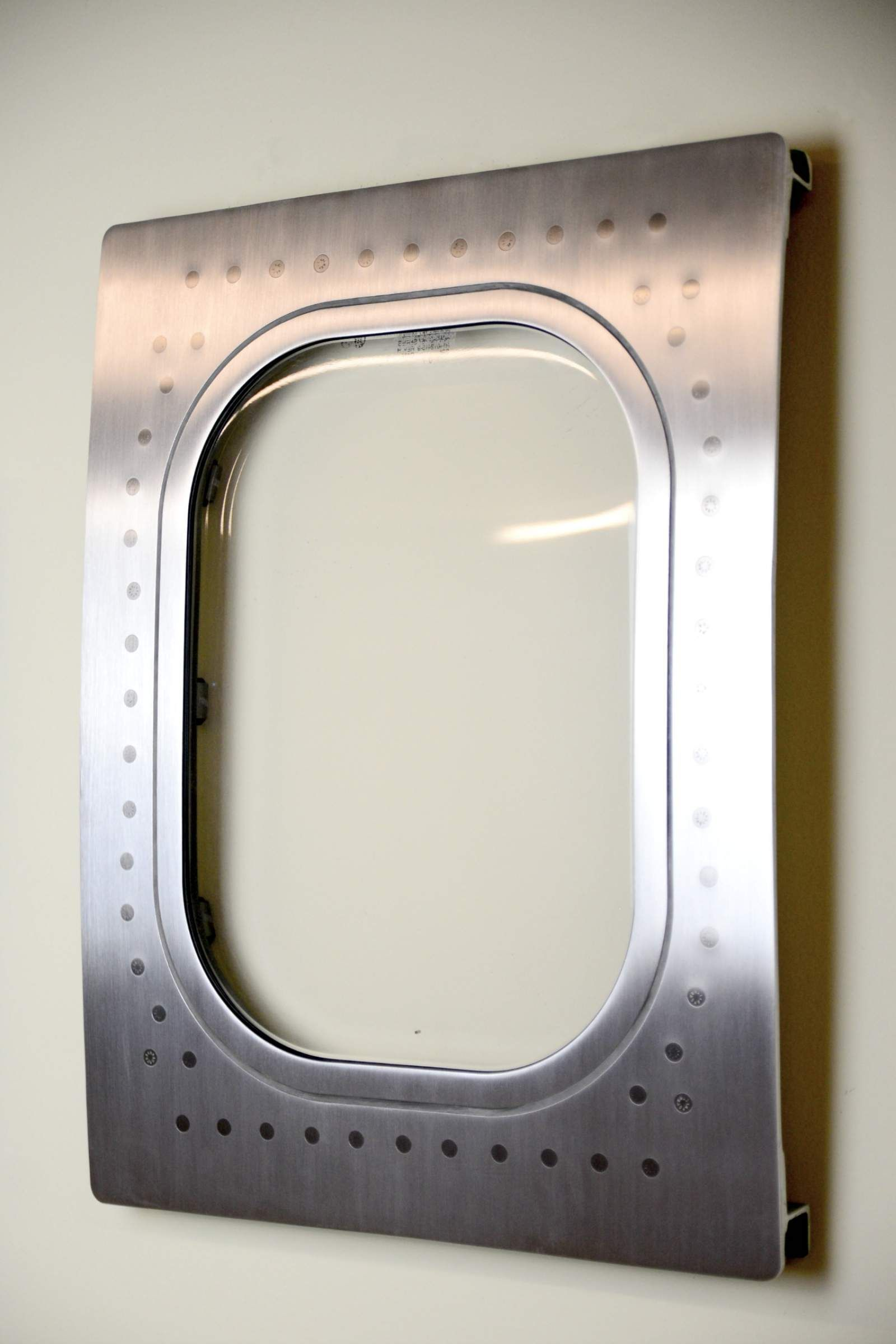 This airplane window was cut from  and turned into custom aviation decoration wall hanging it has been sanded polished to brushed  also art finish design elements pinterest rh