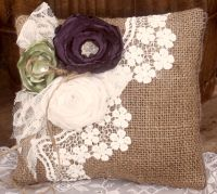 Shabby Chic Pillow, Shabby Chic Craft | Burlap & Lace ...