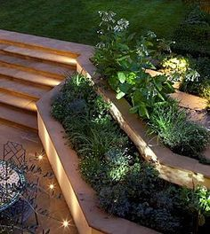 Tiered Garden W 1w Movable LED Lights I Would Love To Do This