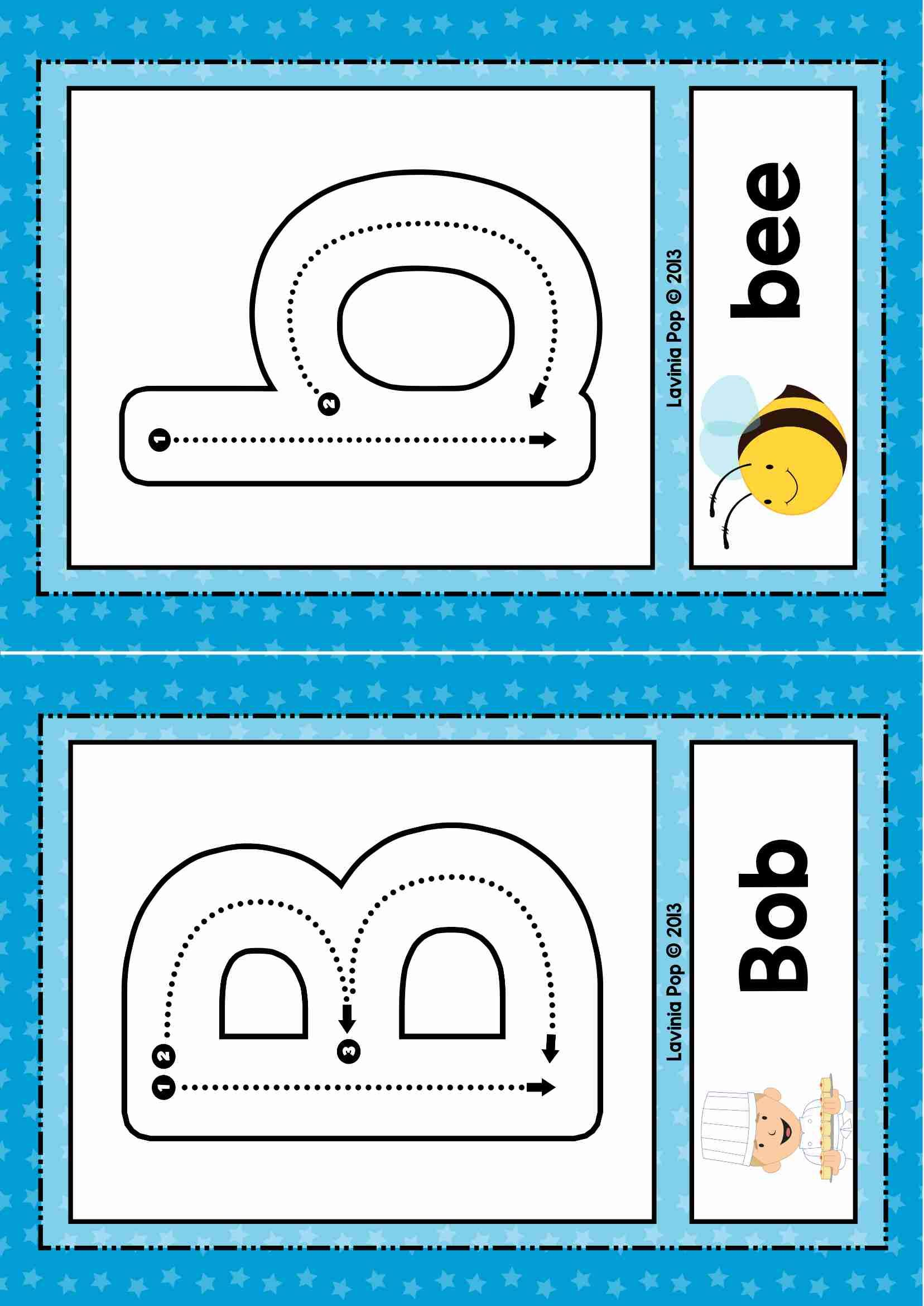 Free Phonics Letter Of The Week B Alphabet Flash Cards Or Play Dough Mats With Correct Letter