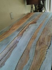 Coffee table ( concrete with wood inlay )   The Rusted One ...
