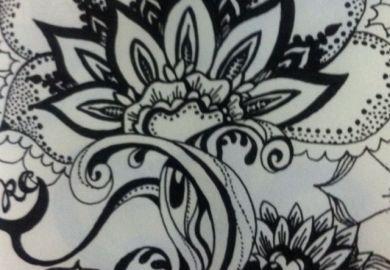 56500d/floral Zentangle Designs Henna Patterns Hand Drawn