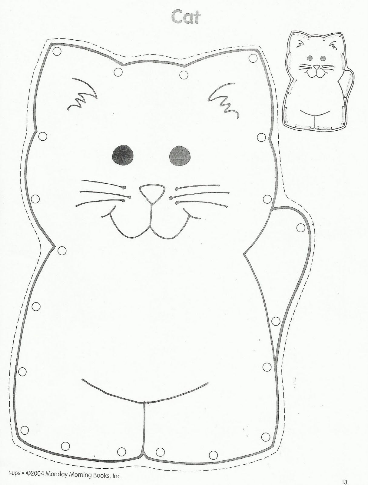 Squish Preschool Ideas Have Children Color Cat And Then Stuff It And Have Them Thread It