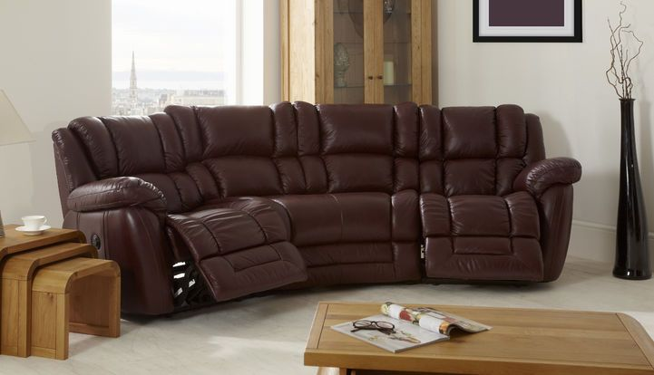 scs leather corner sofa bed cheap circle sofas la-z-boy augusta 4 seater curved power recliner ...