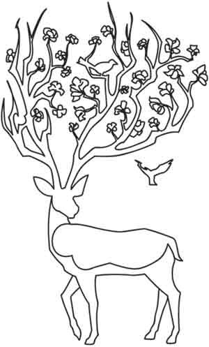 Deer embroidery pattern. I told myself there wouldn't be