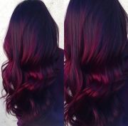 red velvet balayage- dark roots