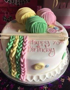 My sister   th birthday cake also knitting pinterest rh za
