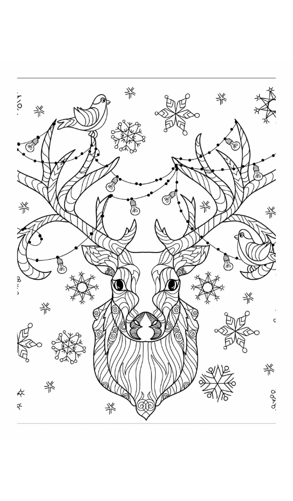 Christmas Coloring Book: A Holiday Coloring Book for