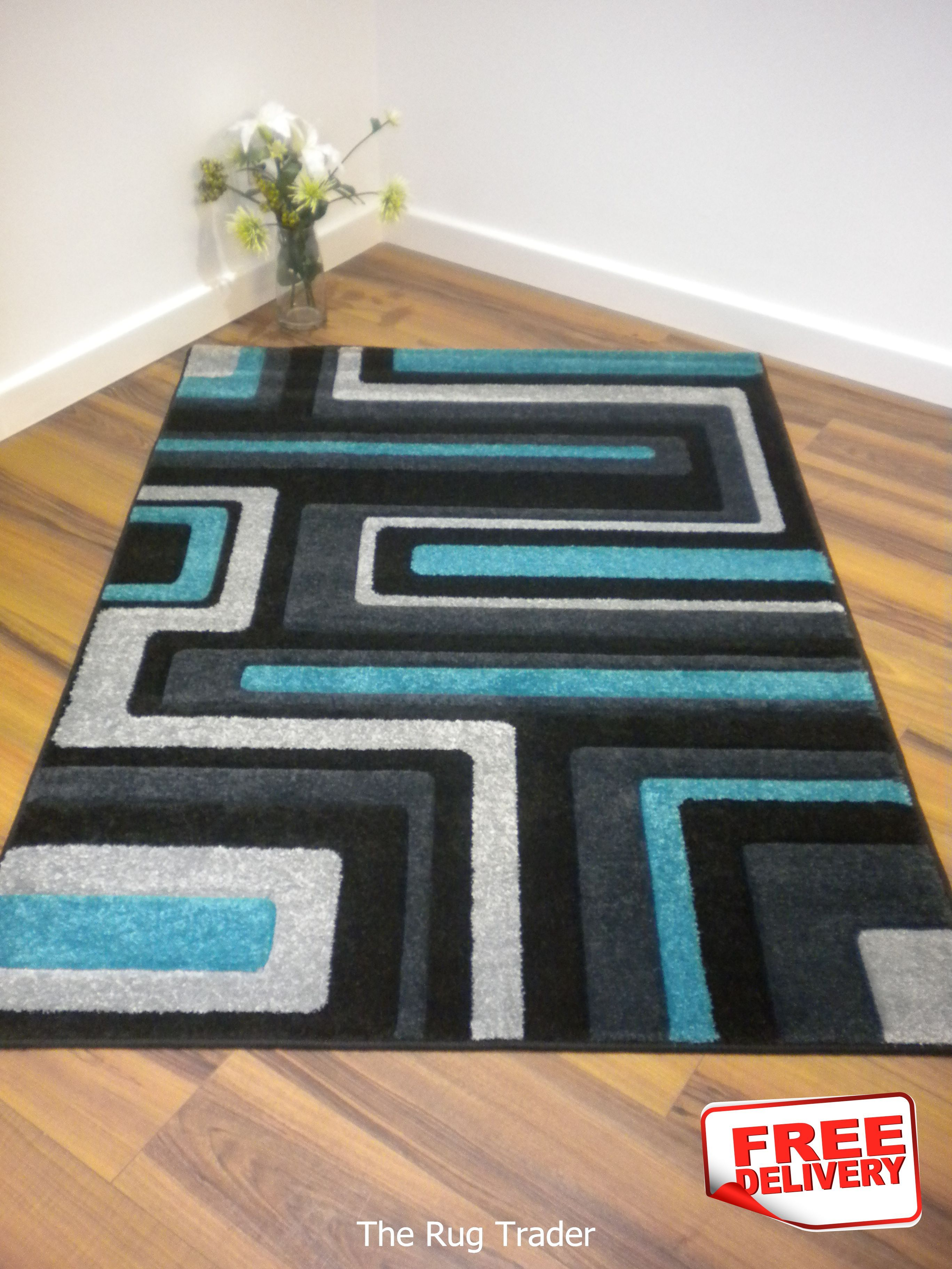 black and turquoise area rugs