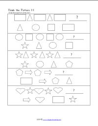 Great free printable worksheet for visual perception ...