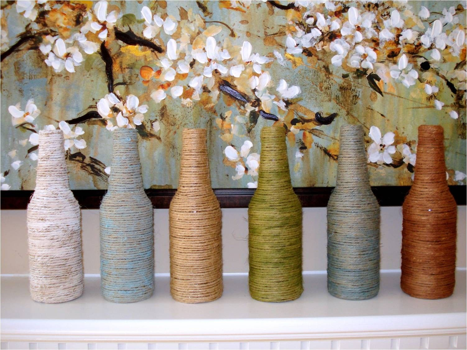 25 Easy Diy Home Decor Ideas Decor Crafts Yarn Wrapped Bottles