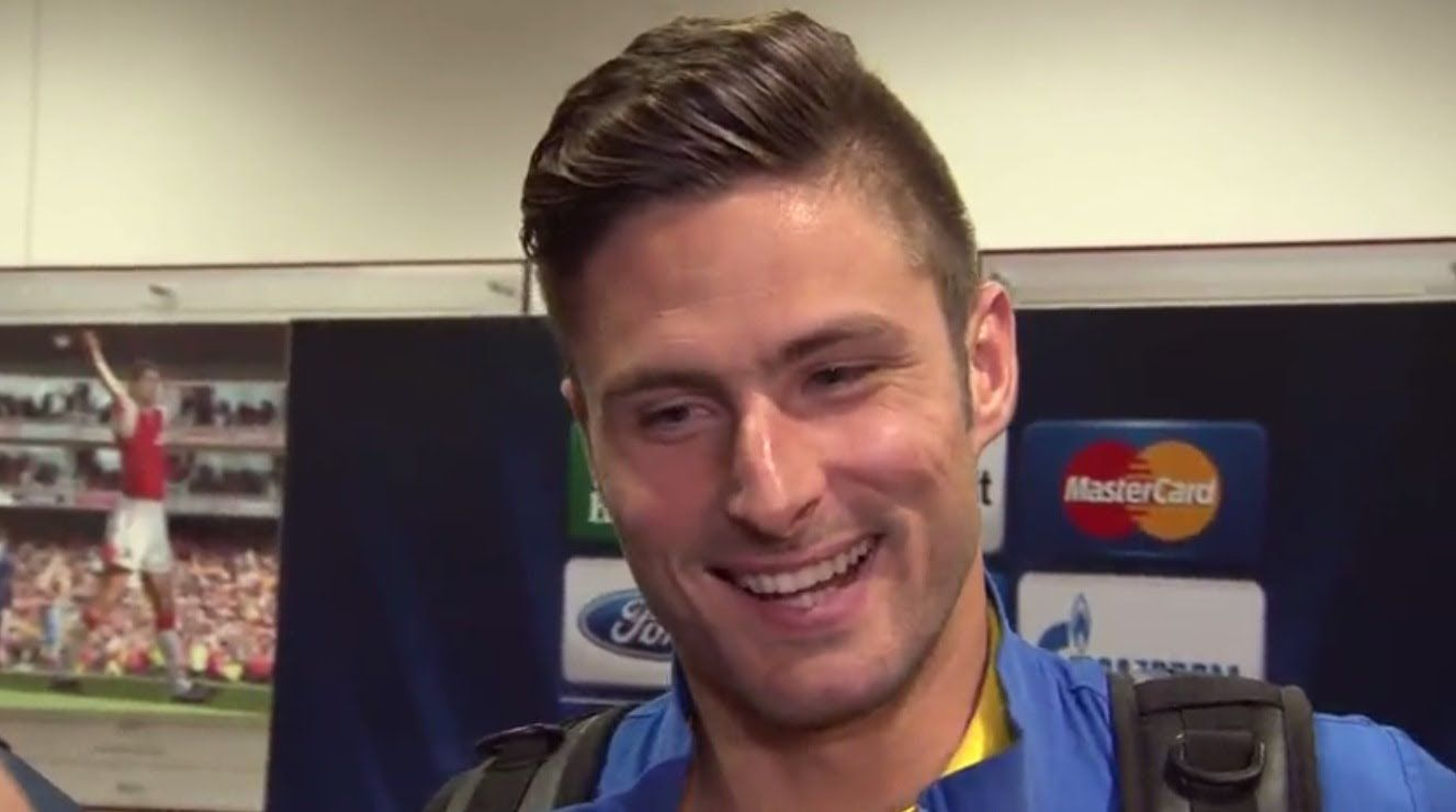Image Arsenals Goalscorer Olivier Giroud Post Erview