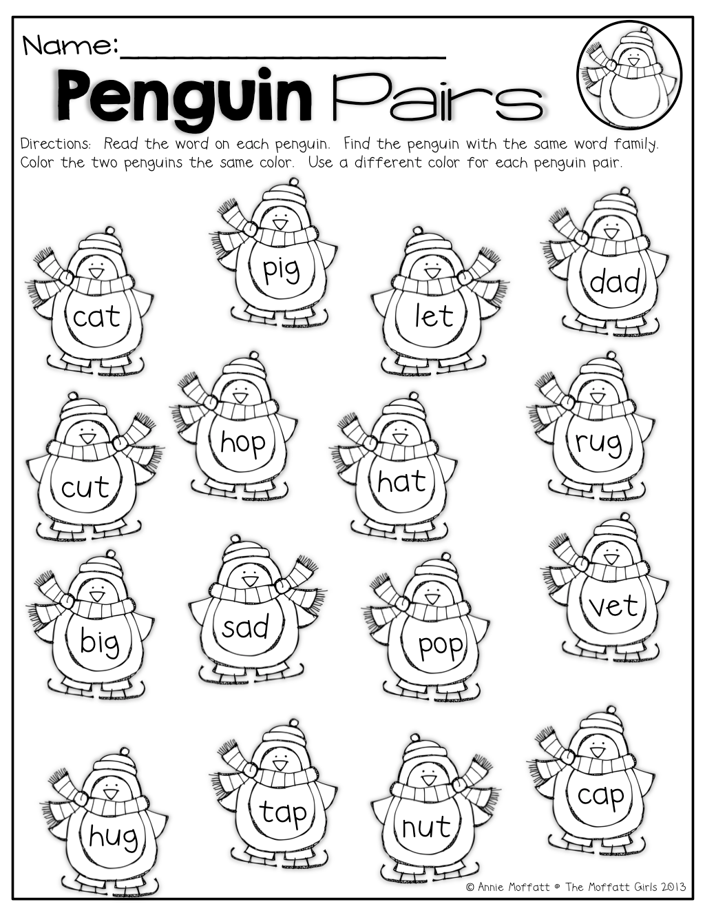Pairs Worksheet For Preschool
