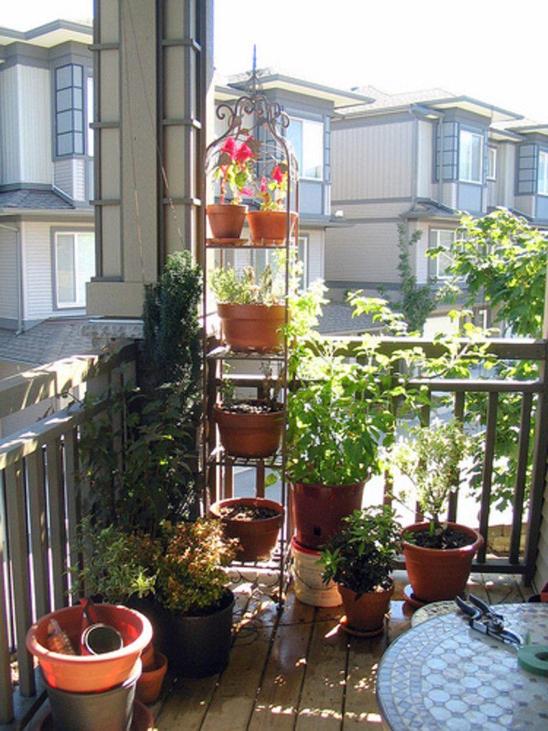 Creative Balcony Garden Style Apartment Interior Design