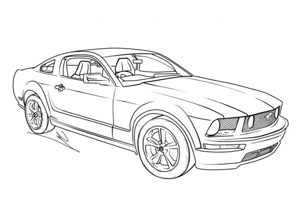 Kids Coloring Picture Of A Mustang Muscle Car