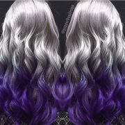 metallic silver hair color melted
