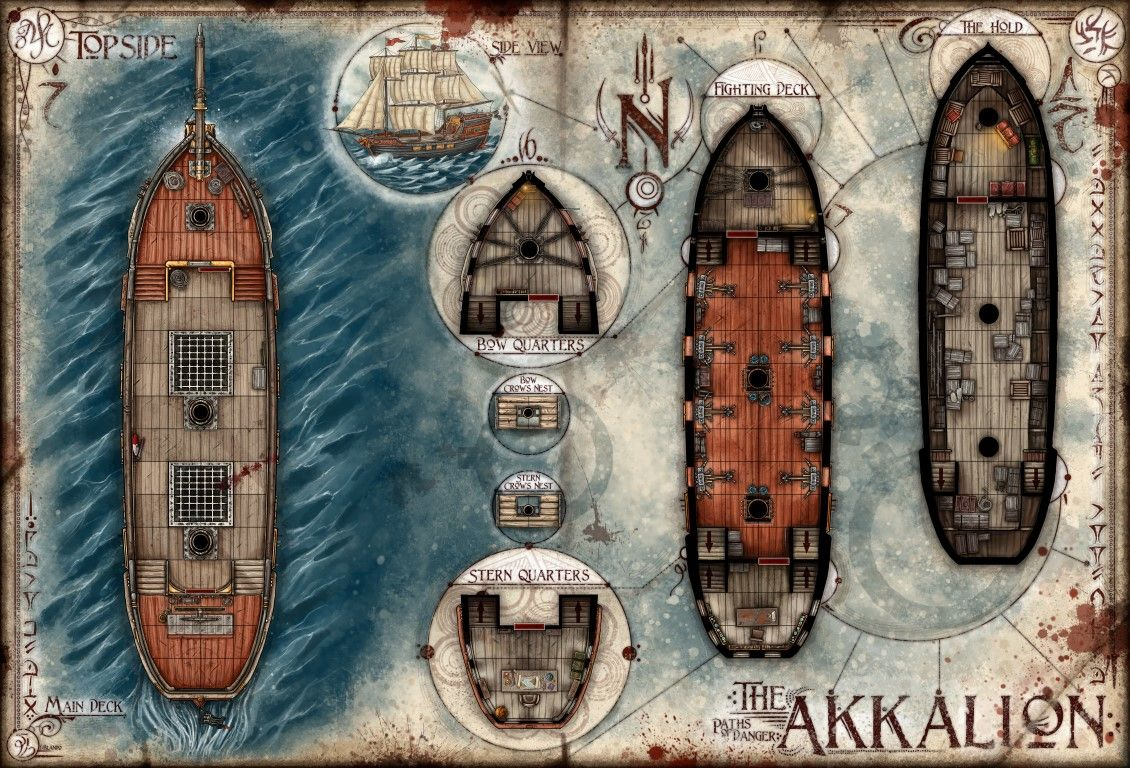 hight resolution of pirate ship layout download