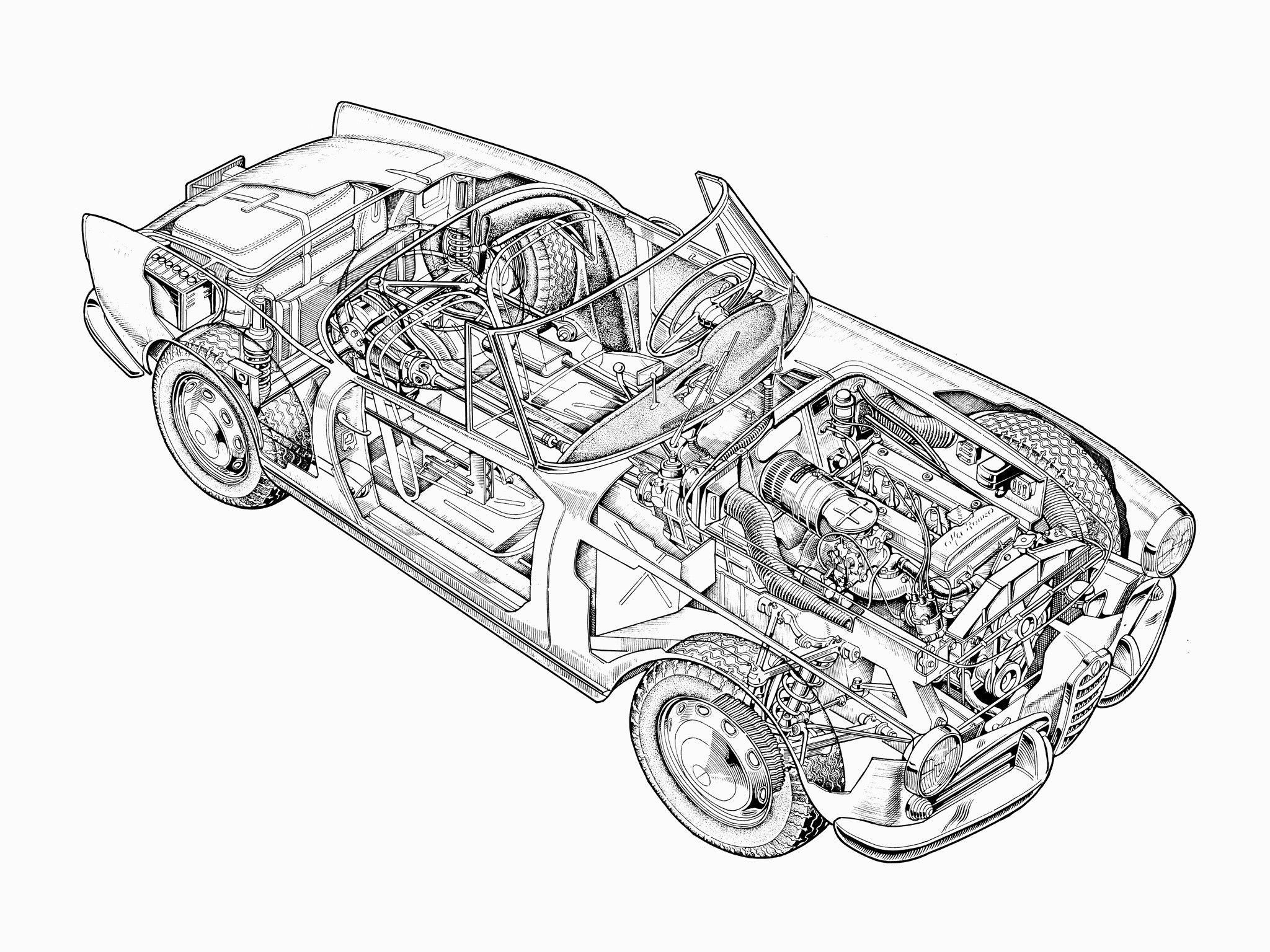 1956-1962 Alfa Romeo Giulietta Spider (750-101) desinged