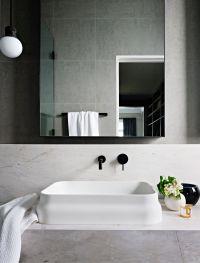 Modern Bathroom, Minimal Bathroom, Black and White ...
