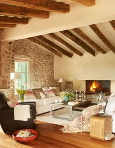 Refurbished old rustic barn home in spain also beams and rh pinterest