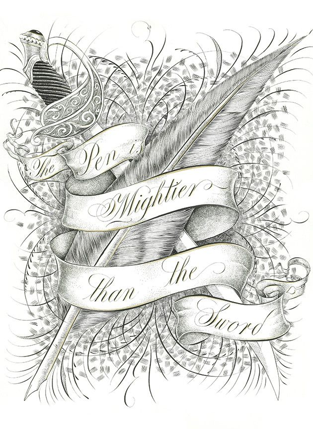 ✍ Typography ✍ Mightier - Jake Weidmann - Artist and Master Penman