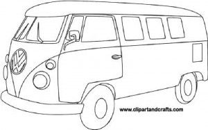Vw Van Coloring Pages Sketch Coloring Page