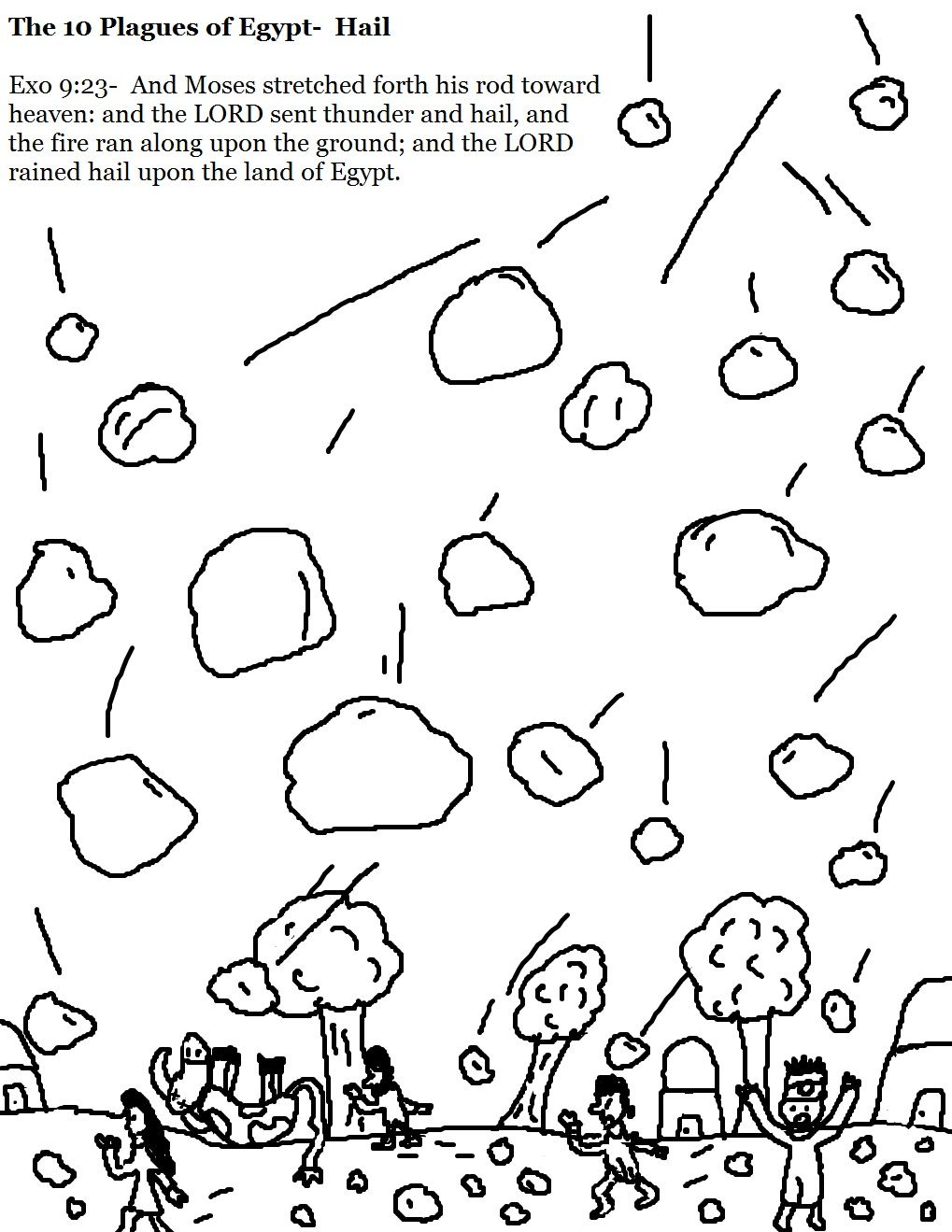 The 10 Plagues of Egypt Hail Coloring Pages.jpg 1,019