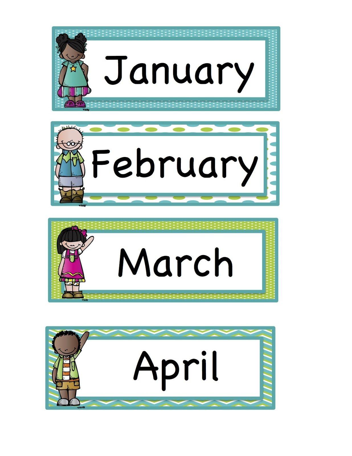 Preschool Printables Calendar