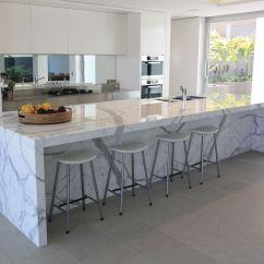 Kitchen Island Marble Top Spoon Beautiful Calacatta For Interior Design Attractive
