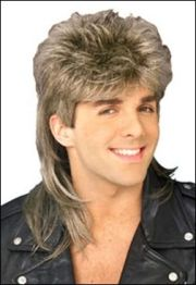 1980's men hairstyle mullet
