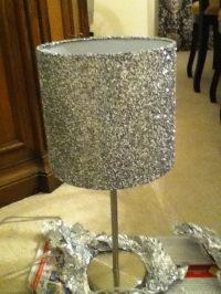 DIY LAMP SHADE! Modge podge +glitter+ lampshade= Glittery ...