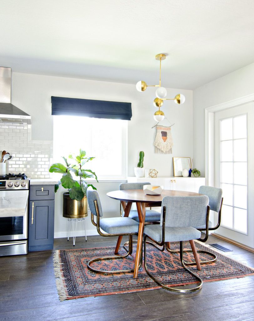 navy gold  white dining room  brittanyMakes  Interiors