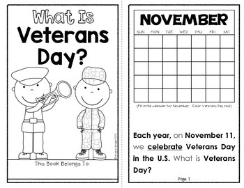 What Is Veterans Day? {A Holiday Reader for Primary