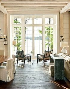 Connection to the outdoors lake house decorating ideas southern living floors ceiling windows for futre also nice space great rooms pinterest spaces and logs rh au