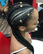 beautiful boxer braids and pigtails