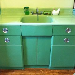 Antique Kitchen Sinks Standard Size Sink Vintage Metal Cabinet Jadeite Porcelain