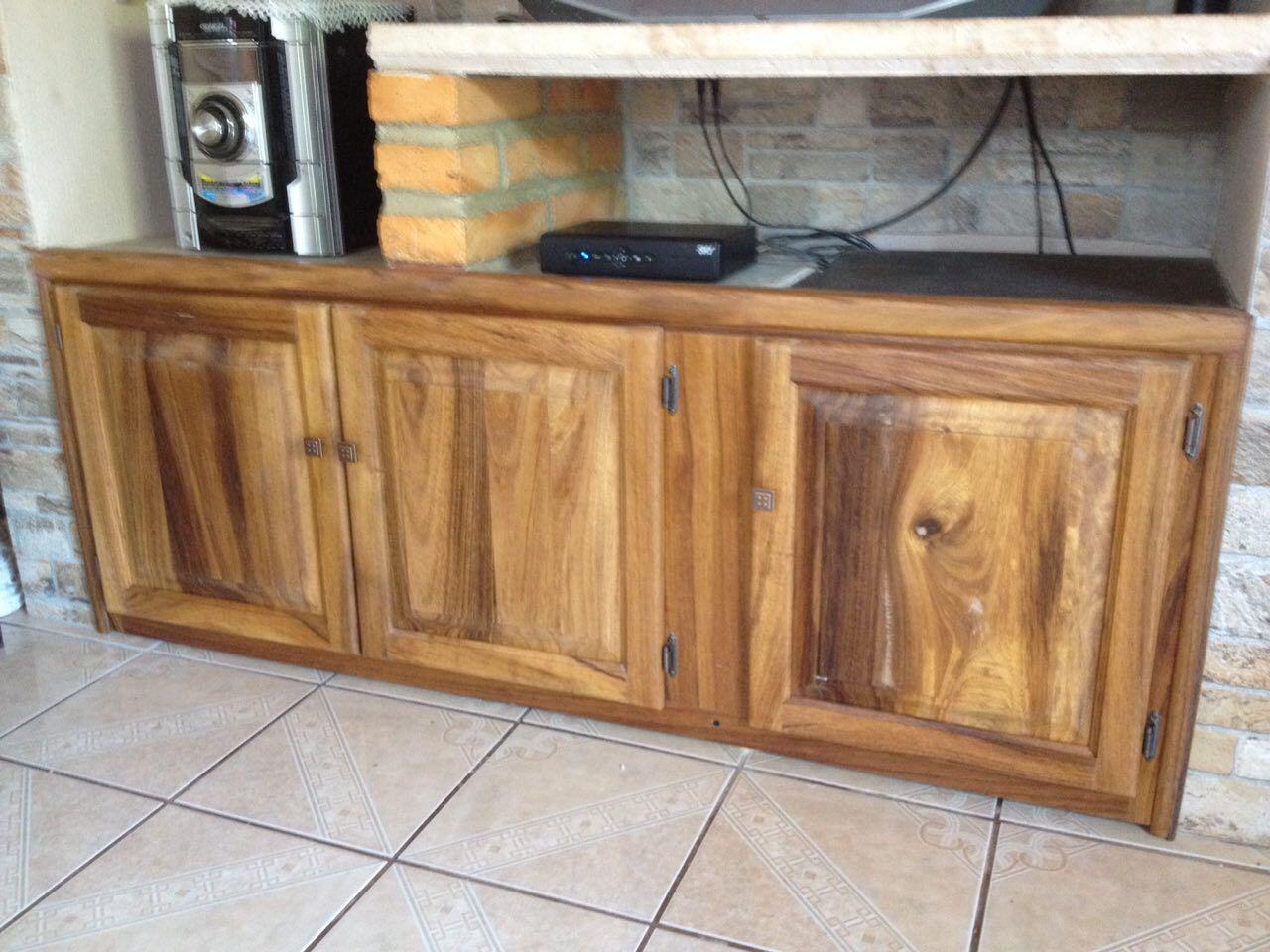 Mueble en madera de parota tipo rstico  Puertas Langarica  Pinterest  Muebles en madera Rstico y Madera